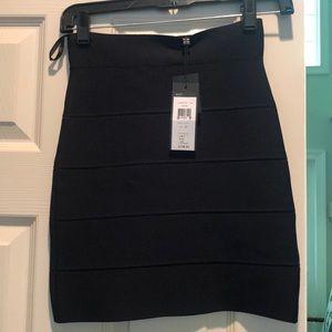 Black rubbed tube skirt - Simone CS Black